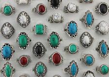 Wholesale Bulk Lots 50pcs Mixed Variety New Fashion Natural Stone Lady's Rings