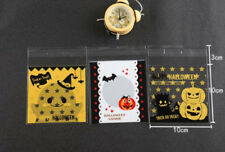 30 x Halloween Pumpkin Gift Cute Bags Treat Lollies Bag Macaron Cookie DIY