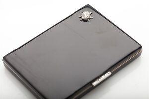 Antique Edwardian Platinum French Cut Diamond 18k Gold CARTIER COMPACT BOX 143g