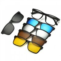 Polarized Sunglasses Magnetic Clip Glasses Man Women 1 Optical Frame + 5 Lenses