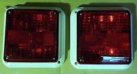 "[SET OF 2] CAMPER/TRAILER STOP/TURN/TAIL INNER LIGHT 9"" LAMP GLO-BRITE [8521]"
