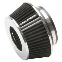 EDELBROCK 43610 AIR FILTER CONE 3.7in. TALL BLACK/CHROME