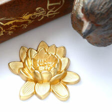 BRASS Retro LOTUS FLOWER Stamping ~ Jewelry Finding (CA-3050)