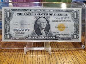 1935A Silver Certificate $1 North Africa yellow RC Block PA ESTATE COLLECTION
