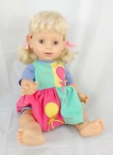 Baby So Beautiful Doll 1995 Playmates Toys Blond Hair Hazel Eyes Original Outfit