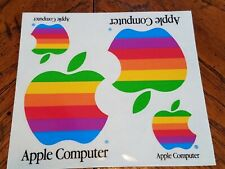 Apple Macintosh Sticker Decal 1980's 80's Rainbow 1990's 90's FREE Shipping