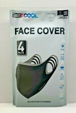 32 Degrees COOL Adult Unisex Face Cover 4 pack Durable Stretch Washable UPF 50+