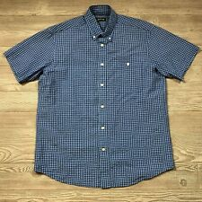 Orvis Plaid Gingham Short Sleeve Button Shirt Men's L V10