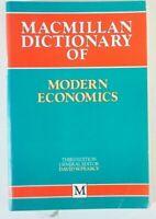 Macmillan Dictionary of Modern Economics Third Edition David W.Pearce Y5-394