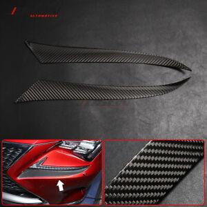 Front Headlight Lamp Eyebrow Eyelid Trim For Lexus RC 300 350 RC F 15-18 Carbon