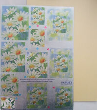 Dufex Pyramex Daisy Flowers with contrasting pearl  Golden Yellow card