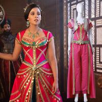 2019 Aladdin Princess Jasmine Cosplay Costume Women Girls Halloween Fancy Dress