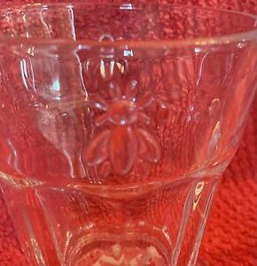 2 La Rochere Glassware 8 oz Drinking Glasses Bee Goblets Paris