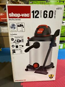 New Sealed Shop Vac 549713 12 Gallon 6.0 HP Stainless Steel Vacuum with Blower