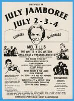 1983 July Jamboree Smithfield VA Mel Tillis Minnie Pearl Doc Watson Country Ad