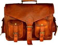 Men's Vintage Real Leather Laptop Cross body Messenger Bag Shoulder Briefcase