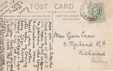 RAILWAY : 1907 HULL  SORTING CARRIAGE double ring cancel on PPC
