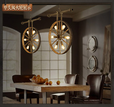 Industrial Hot Wheel Ceiling Lamp E27 Light Fixture Steampunk Pendant Chandelier