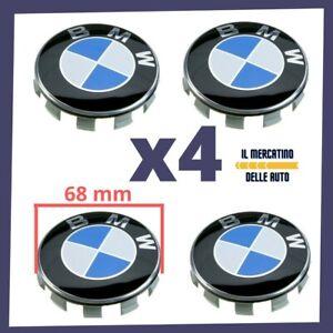 4 TAPPI COPRIMOZZO BMW 68 mm 68mm BORCHIE CERCHI LEGA SERIE 1 2 3 4 5 6 7 M Z X