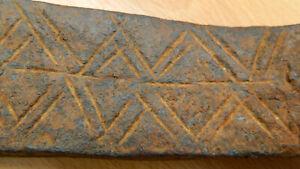 Antique 18th 19th Century ENGRAVED FORGED Primitive Stonemason Pioneer Farm Tool