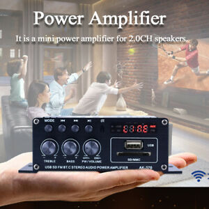 AK370 20W+20W Mini Audio Amplificatore Di Potenza Con Telecomando Per Casa A8T7