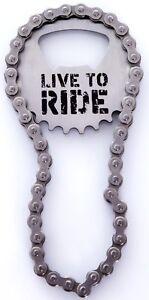 Live to Ride Bottle Opener: Cyclists, Mountain Biking, Biker, Motorcyclist, Gift