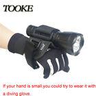 Hand Free Diving Dive Holder Wrist Scuba For Underwater Torch Flashlight Glove