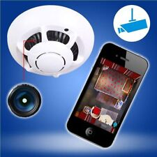 P2P Hidden Wireless IP Camera WiFi DVR Digital Video Recorder Cam Smoke Detector