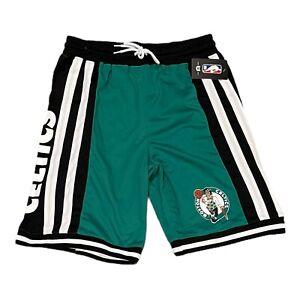 New Mens NBA Boston Celtics green / black Basketball shorts size XL