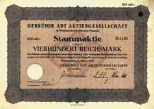 Gebrüder ADT Wächtersbach 1933 Ensheim Villingen Forbach Tarkett 400 RM Allibert