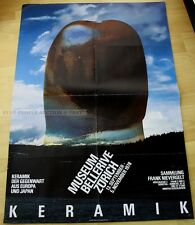 SWISS EXHIBITION XXL POSTER 1978 - CERAMIC OF TODAY FROM EUROPE & JAPAN art