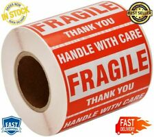 Fragile One Roll Handle Care Warning Sticker Labels Permanent Adhesive Laminated
