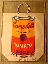 Andy Warhol RARE Signed and Framed Campbells Soup Can Bag