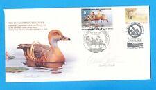 Australia - Scott 1149 Fdc + 1989 Whistling Duck Wetlands Conservation - Signed