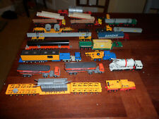 Lot of HO 1:87 Scale German Semi Tractor Trucks Long Trailers Over Sized Pipes