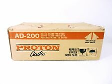 Vintage PROTON AD-200 Stereo Cassette Deck Lightly Used w/ Original Box
