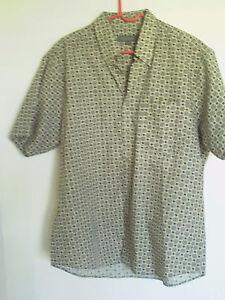 Men's Baymont Brown Short sleeve Dress  shirt Size 16 16.5