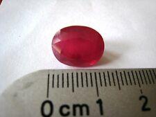 Ruby Loose Gemstone Pakistan Hunza Oval Cut 6 Carats Natural Red Pakistani Gem