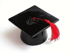 GRADUATION GIFT- MORTARBOARD HAT SHAPED MONEY BANK & RED TASSEL in GIFT BOX-NEW