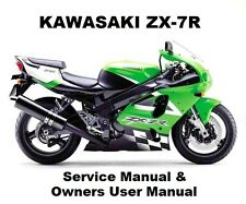 ZX-7R NINJA 750 - Service Workshop Repair & Owners Manual PDF on CD-R ZX750 ZXR