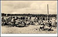 Arendsee Sachsen-Anhalt DDR Altmark 1962 Partie im Strandbad Personen Liegen