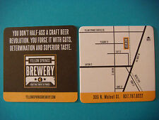 Bar Coaster ~*~ YELLOW SPRINGS Brewery ~ Don't Half-Ass A Craft Beer Revolution