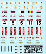 Colorado Decals 1/43 FORD FIESTA RS WRC Qatar #4 #5 #6 #11 #15 Portugal 2013