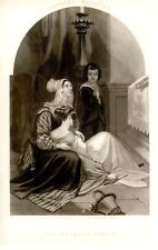 "Engraving from Graham etc. ""MOTHER'S PRAYER"" - 1840-60"