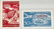YUGOSLAVIA JUGOSLAWIEN 1951 666-67 Planes Parachuting Fallschirmspringen MNH
