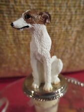Whippet Brindle And White Dog Wine Stopper