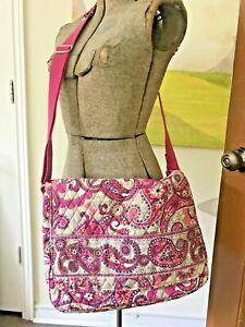 Vera Bradley Messenger Bag in Paisley Meets Plaid Retired Print. Very Nice Bag!