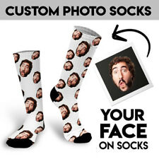 Face on Socks Personalised Family Friend Photo Sock Customized Christmas Gifts