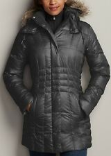 EDDIE BAUER HIGH PASS DOWN PARKA TRENCH COAT GRAPHITE 650FP L