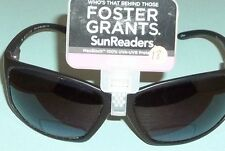 Foster Grant Federal Lined Unisex Black Bifocal Sunglasses SunReaders +2.50 #18
